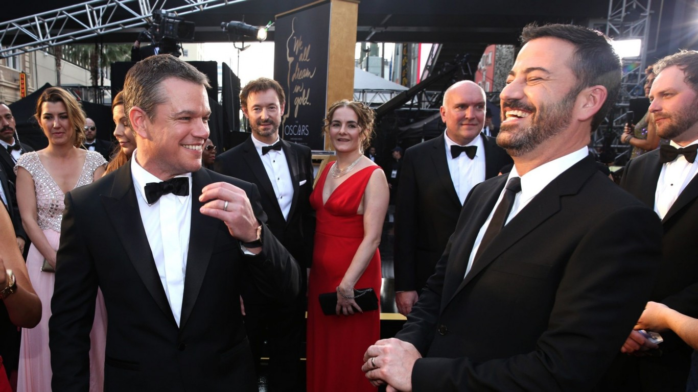 Ben Affleck smuggles Matt Damon onto the set of 'Jimmy Kimmel Live!'